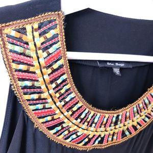 🍁Blue Sage Embroidered Dress